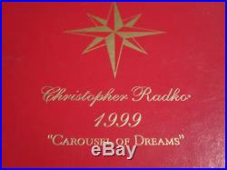 Christopher Radko Christmas Ornament Carousel Of Dreams Limited Large 1999
