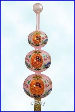 Christopher Radko Christmas Ornament, Colonial Finial Pink, 1996, 95-310-1