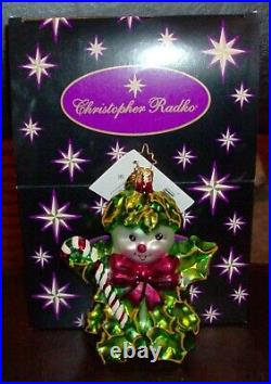 Christopher Radko Christmas Ornament Holly Jean