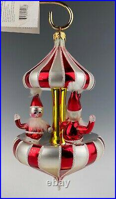 Christopher Radko Christmas Ornament Peppermint Twist Carousel In Box