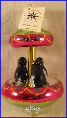 Christopher Radko Christmas Ornament Tuxedo Carousel 94-245-0 with tag