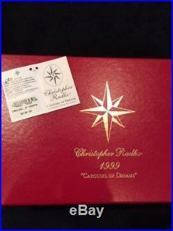 Christopher Radko Christmas ornament CAROUSEL OF DREAMS 1999, Ltd Ed 690/2500