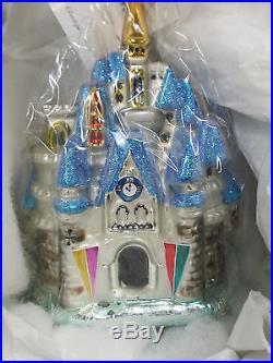Christopher Radko Cinderella's Castle Ornament New in Box Disney