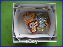 Christopher Radko Cookie Hearts Glass Ornament