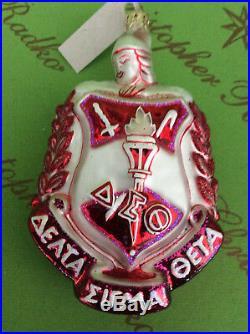 Christopher Radko Delta Sigma Theta Fraternity Glass Ornament
