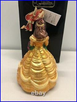 Christopher Radko Disney 1998 BELLE Beauty & the Beast Princess Ornament #2430