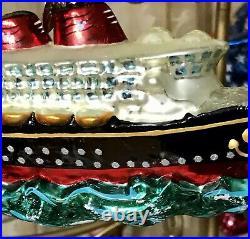 Christopher Radko Disney Cruise Line Ship Christmas Glass Ornament 00-DIS-44