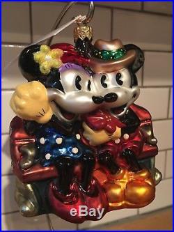Christopher Radko Disney MICKEY and MINNIE Winter Romance 99-dis-28 Ornament