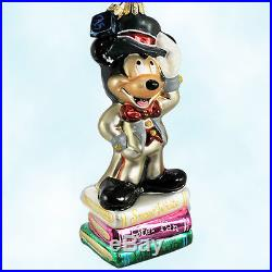 Christopher Radko Disney Ornaments Tuxedo Mickey 1998 75th Ltd Christmas Glass
