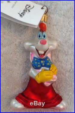 Christopher Radko Disney Roger And Jessica Rabbit Set Of Two Ornaments Rare