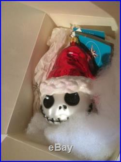 Christopher Radko Disney Santa Jack Skellington Ornament Nightmare Before Xmas