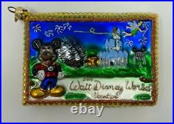 Christopher Radko Disney World Vacation Post Card Glass Ornament 00-DIS-50