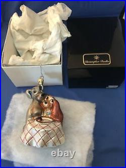 Christopher Radko Disney's Lady And The Tramp Ornament Limited Edition with Box