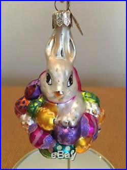 Christopher Radko Easter Ornaments LOT OF 6 ASSORTED EGGS RABBITS CUPCAKES