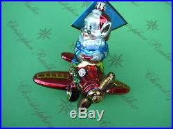 Christopher Radko Elf Express Glass Ornament