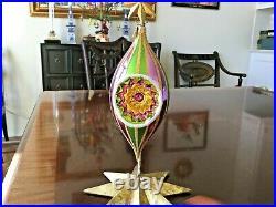 Christopher Radko FANTASIA Carnival Comets Large Glass Ornaments Set of 3