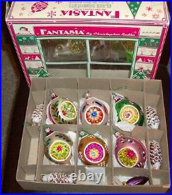 Christopher Radko FANTASIA Christmas Ornaments With Box and extras