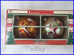 Christopher Radko FANTASIA Nicholas Gardens Circle Santa Christmas Ornament Set