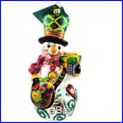 Christopher Radko FROM FROSTY FRIENDS Blown Glass Ornament Snowman Event