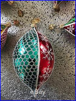 Christopher Radko Fantasia Christmas Tree Glisten Glimmers Glass Ornaments