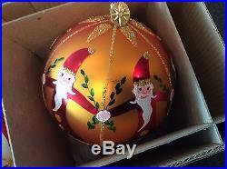 Christopher Radko Fantasia Nicholas Gardens Ornaments Set of 2