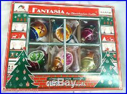 Christopher Radko Fantasia SET 6 Christmas Ornaments Reflector Nature's Valley