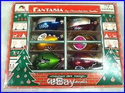 Christopher Radko Fantasia SET 6 Christmas Ornaments Reflector New Castle Woods