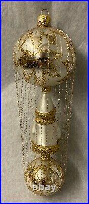 Christopher Radko First Decade Wire-Wrapped Santa-Scarlett Wedding Dress. New