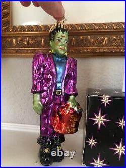 Christopher Radko Frankenstein Frankentreat Halloween Ornament Trick or Treat