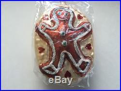Christopher Radko GingerBread Man Hand Made Glass Christmas Tree Ornament