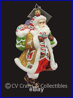Christopher Radko Gingerbread Santa CANDY CLAUS 1016133 Ornament NIB