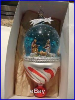 Christopher Radko Glass Nativity Major Scene Ornament