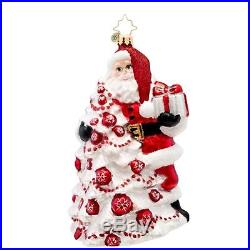 Christopher Radko Glass Red Splendor Santa Claus Christmas Ornament #1017094