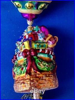 Christopher Radko Grand Gift Air Lift Balloon Glass Ornament # 655/10,000 RARE