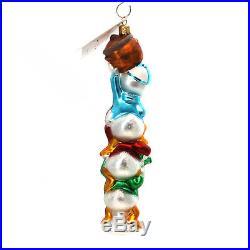 Christopher Radko HUEY LOUIE AND DEWEY Glass Disney Ornament Ducks