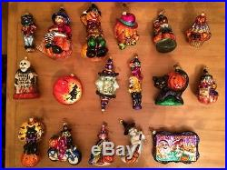 Christopher Radko Halloween Ornament Lot! VINTAGE, RARE PIECES