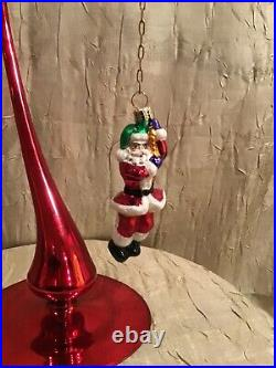 Christopher Radko Hanging On Till Christmas Ornament & Stand with TAG 1522/10000