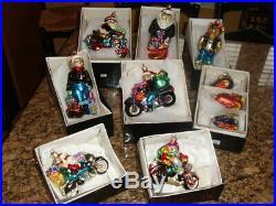 Christopher Radko Harley Davidson Christmas Ornaments Lot