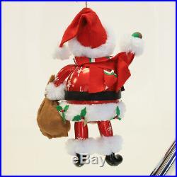 Christopher Radko Hitchin' A Sleighride Italian Santa Ornament 1011960