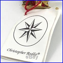 Christopher Radko Holiday Star Santa Ornament Christmas Blown Glass 95-027-0