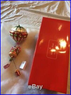 Christopher Radko Hot Air Lift Balloon Glass Ornament 16