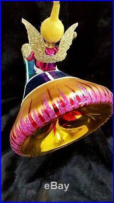 Christopher Radko Italian Blown Glass Ornament ANGEL IN ORBIT 1995