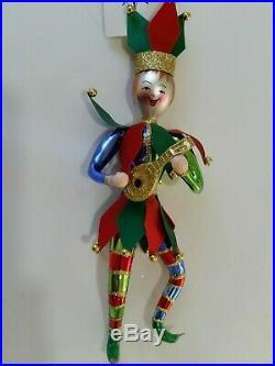 Christopher Radko Italian Blown Glass Ornament A FOOL FOR YULE 1998 Jester