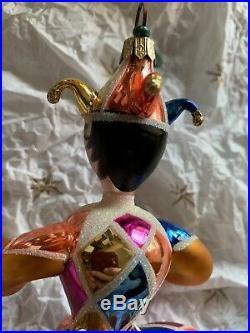 Christopher Radko Italian Blown Glass Ornament DANCING HARLEQUIN 1993