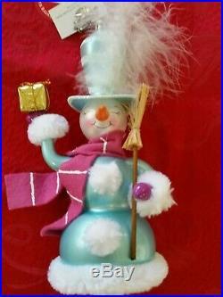 Christopher Radko Italian Blown Glass Ornament FLUFF N FLURRY 2005