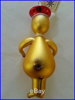 Christopher Radko Italian Blown Glass Ornament RANGER AND YOSEMITE BEAR 1996