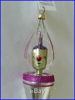 Christopher Radko Italian Blown Glass Ornament ROCKETEER 1995