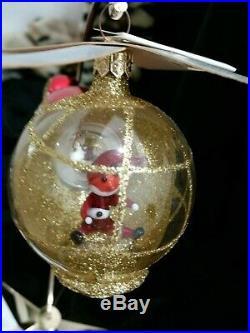 Christopher Radko Italian Blown Glass Ornament SANTA COPTER 1994