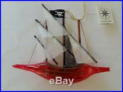 Christopher Radko Italian Glass Ornament PIRATE SHIP 1995 Peter Pan