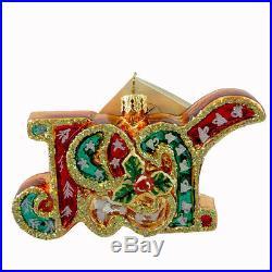 Christopher Radko JOY JUBILEE Glass Ornament Christmas